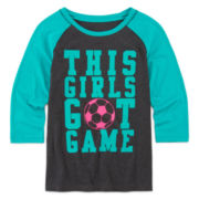 Xersion™ 3/4-Sleeve Graphic Raglan Tee - Girls 7-16 and Plus