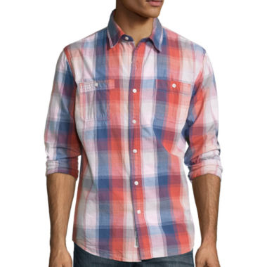 jcpenney.com | Lee® Long-Sleeve Textured Button-Front Shirt