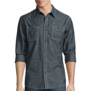 Lee® Long-Sleeve Textured Button-Front Shirt