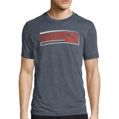 jcpenney.com | Puma® Sueded Short-Sleeve Graphic Tee
