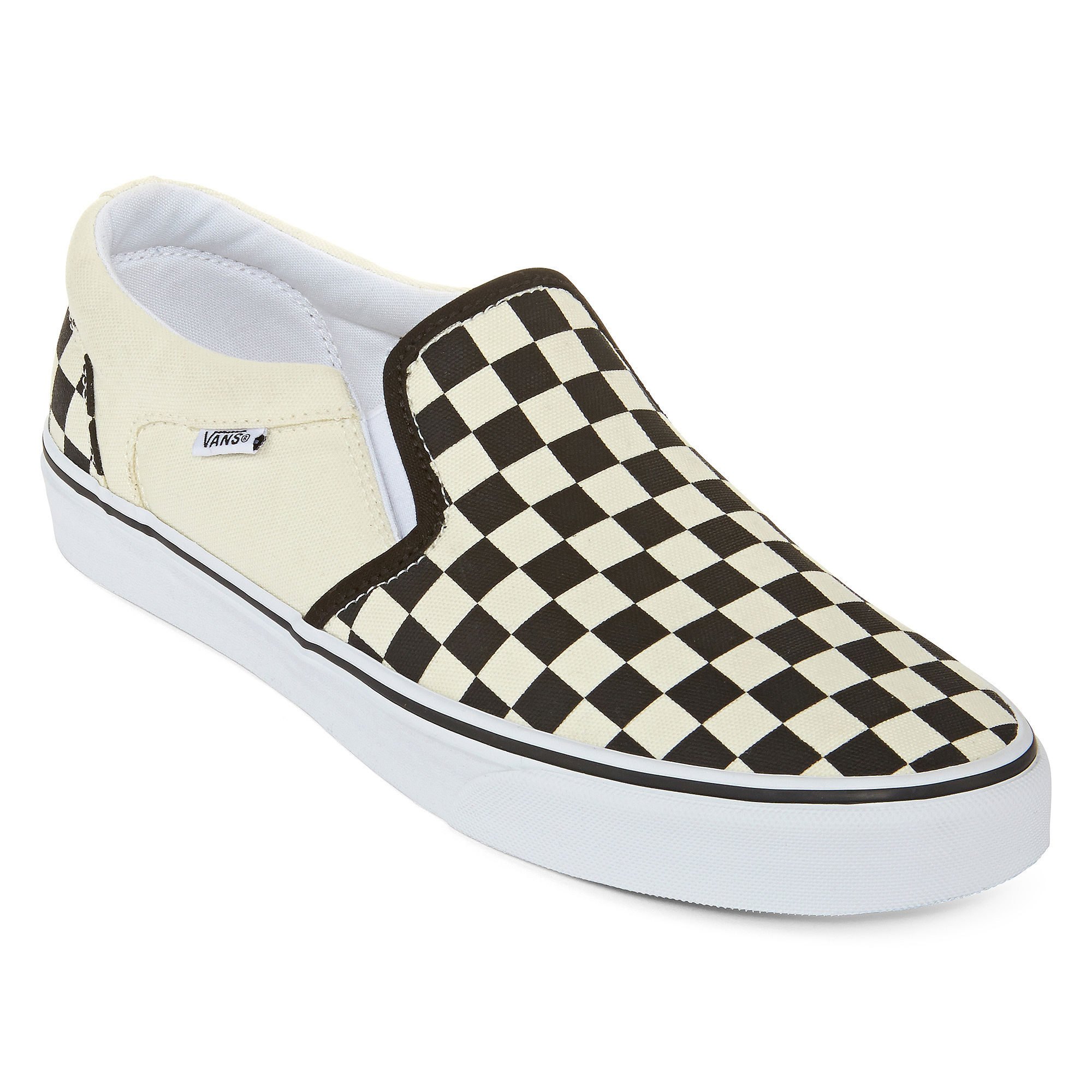 2cd1ac76d4 ... Slip On Sneakers, Tennies, Skateboard Shoes UPC 881862411131 product  image for Vans Asher Checkered Mens Athletic Skate Shoes | upcitemdb.com ...