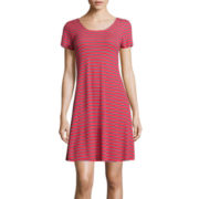 Pink Republic Short-Sleeve Stripe Dress