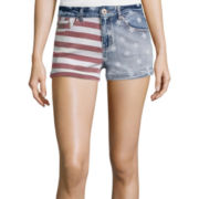 Vanilla Star® Allover Print Americana Denim Shorts