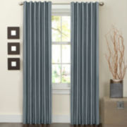 Faux Silk Lined 2-Pack Hidden Back-Tab Curtain Panels