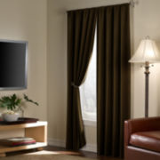 Velvet Home Theater Blackout Rod-Pocket Curtain Panel