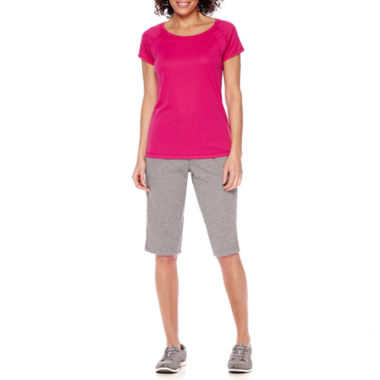jcpenney.com | Made for Life™ Short-Sleeve Print Block Tee or Skimmer Leggings