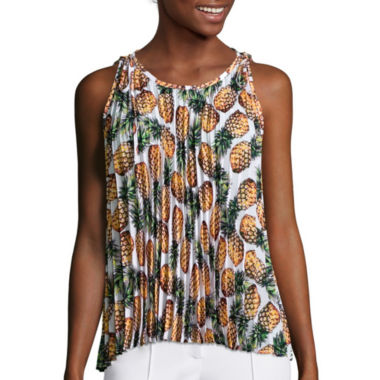 jcpenney.com | nicole by Nicole Miller® Sleeveless Pleated Top