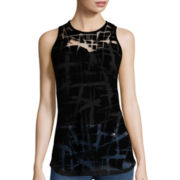 nicole by Nicole Miller® Back Zipper Burnout Tank Top