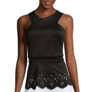 Bisou Bisou® Sleeveless Laser Halter Top
