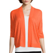 Worthington® Short Sleeve Open Front Cardigan