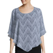 Alyx® Short-Sleeve Flutter Sleeve Print Top