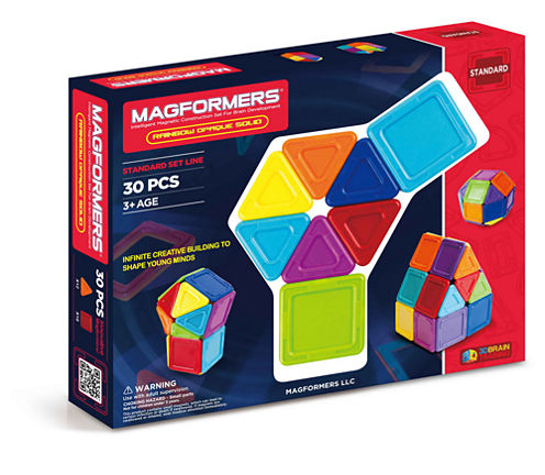 Magformers Solids Opaque Rainbow 30 PC. Set