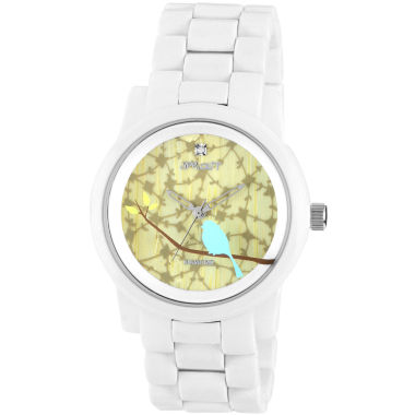 jcpenney.com | Sprout® Eco-Friendly Womens Bird White Corn Resin Bracelet Watch