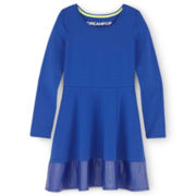 Dreampop® Fit-and-Flare Pieced Dress - Girls 7-16