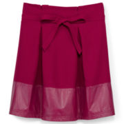 Dreampop® by Cynthia Rowley Pleated Skirt with Faux Leather - Girls 7-16