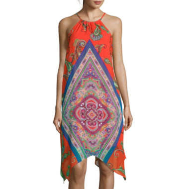 jcpenney.com | My Michelle® Sleeveless Printed High-Low Hem Dress