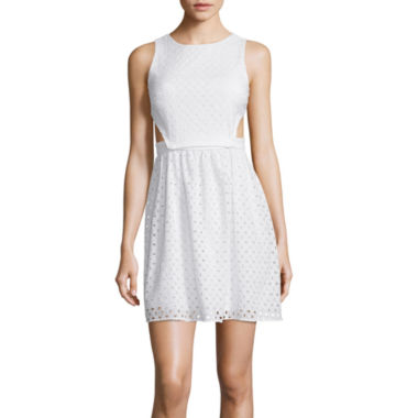 jcpenney.com | City Triangles® Sleeveless Lace 2-Pc. Cutout Dress- Juniors