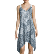 Trixxi® Sleeveless Lattice-Back Dress