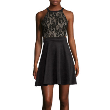 jcpenney.com | Speechless® Sleeveless Lace Cutout Party Dress