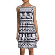 Weslee Rose Sleeveless Print Fit-and-Flare Dress