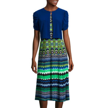jcpenney.com | Danny & Nicole® Short-Sleeve Aztec Jacket Dress