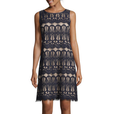 jcpenney.com | Jessica Howard Sleeveless Lace Shift Dress