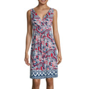 St. John's Bay® Sleeveless Print Tank Sundress