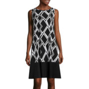 RN Studio by Ronni Nicole Sleeveless Print Shift Dress