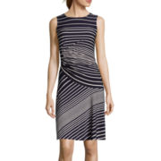 Danny & Nicole® Sleeveless Stripe Sheath Dress