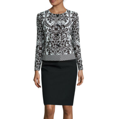 jcpenney.com | Isabella Long-Sleeve Jaquard Jacket Skirt Suit