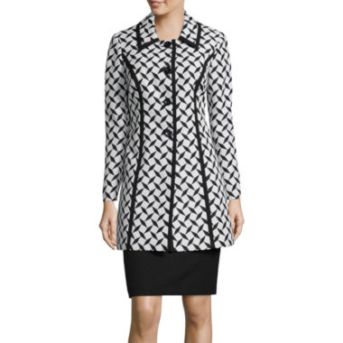 jcpenney.com | Isabella Long-Sleeve Jacquard Coat Skirt Suit