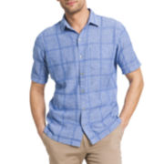 Van Heusen® Short-Sleeve Linen Cotton Shirt