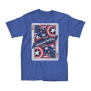 Captain America Short-Sleeve Ace Graphic Tee