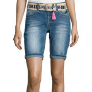 Wallflower Belted Bermuda Shorts