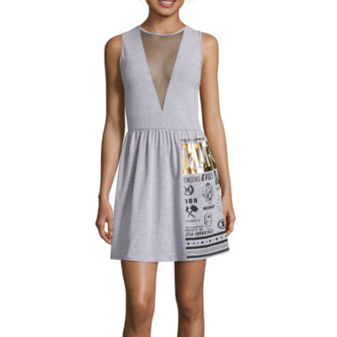 jcpenney.com | Mighty Fine Sleeveless Mesh Inset Dress