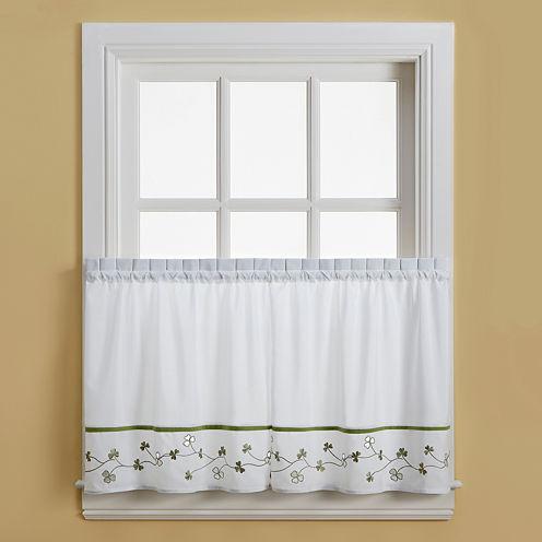 Clover Rod-Pocket Window Tiers