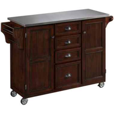 jcpenney.com | Blue Ridge Stainless Steel-Top Kitchen Cart