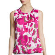 Liz Claiborne® Floral Bubble Top