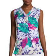 Liz Claiborne® Sleeveless V-Neck Blouse