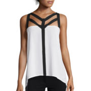 Bisou® Sleeveless Colorblock Cage Top