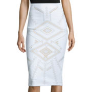 Bisou Bisou® Slim-Fit Pencil Skirt