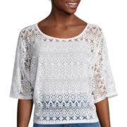 Bisou Bisou® Dolman-Sleeve Crochet Top