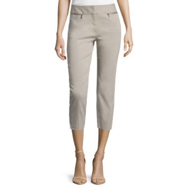 jcpenney.com | Worthington® Slim-Fit Cropped Pants