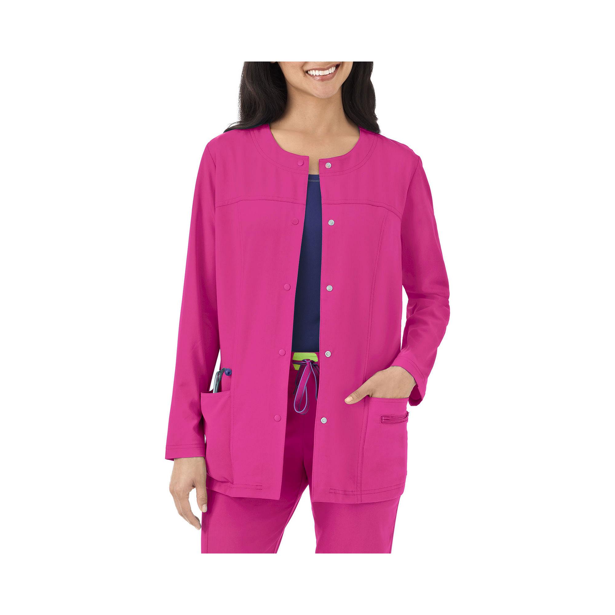 Jockey Womens Modern Snap-Front Scrub Jacket plus size,  plus size fashion plus size appare