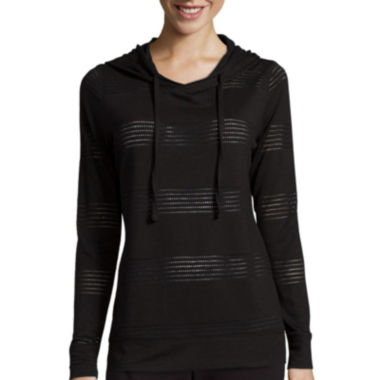 jcpenney.com | Made for Life™ Long-Sleeve Jacquard Mesh Hoodie