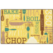 Kitchen Language Rectangular Rug