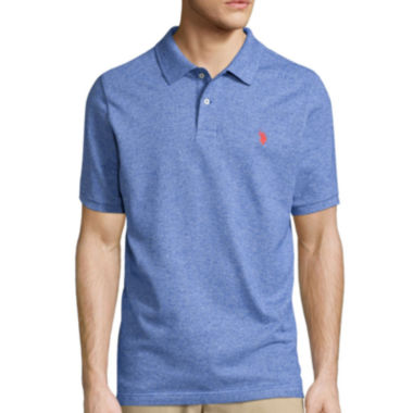 jcpenney.com | U.S. Polo Assn.® Short-Sleeve Heather Pique Polo