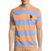 U.S. Polo Assn.® Short-Sleeve Rugby-Stripe V-Neck Tee