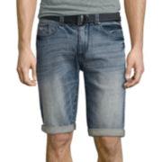 UNIONBAY® Wilder Stretch Belted Denim Shorts