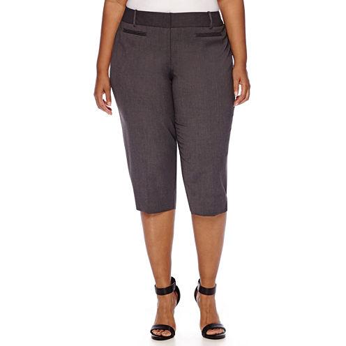 Worthington® Welt-Pocket Cropped Pants - Plus